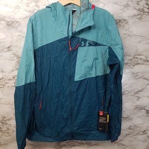 Under Armour Mens Storm Rain Jacket Blue L & XL